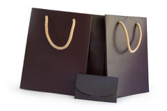 Shopping bags and envelope Royalty Free Stock Photos