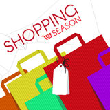 Shopping bags fashion and cart icon vector abstract background Royalty Free Stock Photos