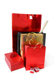 Shopping bags and gift boxes Stock Photo