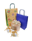 Shopping bags and gift boxs Stock Image