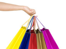 shopping bags in hand Stock Image