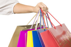 Shopping bags in hand Stock Photography