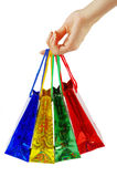 Shopping bags in hand Royalty Free Stock Photos