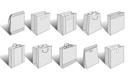 Shopping bags illustrated version 3. Check out my other versions Royalty Free Stock Photos