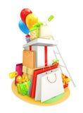 Shopping bags illustration Royalty Free Stock Image