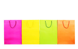 shopping bags isolated on white Royalty Free Stock Photos
