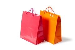 Shopping bags. Isolated on white background Stock Images