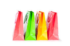 Shopping bags. Isolated on white background Royalty Free Stock Photos