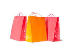 Shopping bags. Isolated on white background Stock Image