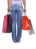 Shopping bags and legs Royalty Free Stock Photos
