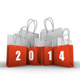 Shopping bags. New Years shopping. Vector illustration Royalty Free Illustration