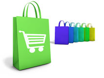 Shopping Bags Online Ecommerce Concept Stock Photo