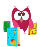 Shopping bags and owl Stock Images