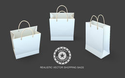 Shopping bags paper packaging for goods Stock Photo
