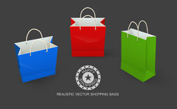 Shopping bags paper packaging for goods Royalty Free Stock Photography