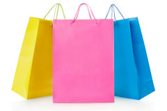 Shopping bags in paper Royalty Free Stock Photography