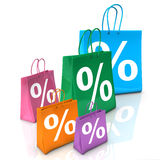 Shopping Bags Percent Stock Photos