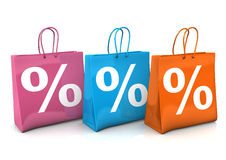 Shopping Bags Percent Royalty Free Stock Image