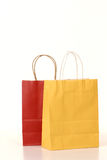 Shopping bags and ribbon gift box Stock Photos