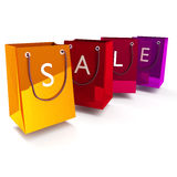 Shopping bags with sale Royalty Free Stock Photo