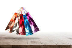 Shopping bags with sale Royalty Free Stock Photography