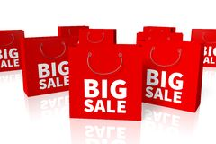 Shopping bags sale concept... Royalty Free Stock Images