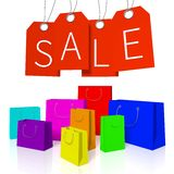 Shopping bags sale concept... Royalty Free Stock Image