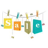 Shopping bags for sale Royalty Free Stock Photography