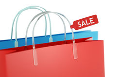 Shopping bags. With SALE label Stock Image