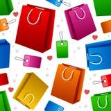 Shopping Bags Seamless Pattern Royalty Free Stock Image