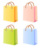 Shopping bags set. Multicolor; vector illustration; isolated Stock Photography