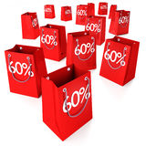 Shopping bags 60% Royalty Free Stock Image