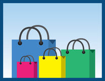 Shopping Bags Sizes Stock Photography