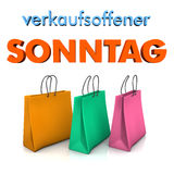 Shopping Bags Sunday Opening Stock Photography