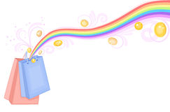 Shopping bags treasure Royalty Free Stock Image