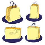 Shopping bags. Vector hand drawn shopping bags Stock Image