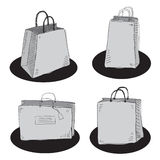 Shopping bags. Vector hand drawn shopping bags Stock Images