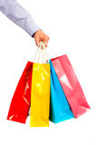 Shopping Bags on White Stock Images