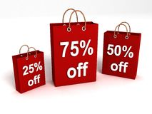 Shopping Bags With Rebate Offers Royalty Free Stock Image
