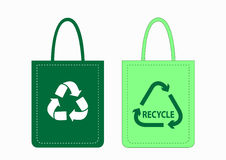 Shopping Bags With Recycle Symbols Stock Photo