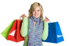 Shopping Bags Woman Stock Photos