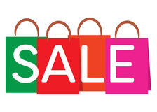 Shopping bags with the word SALE royalty free illustration