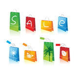 Shopping bags for you design Stock Image