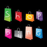 Shopping bags for you design Royalty Free Stock Image