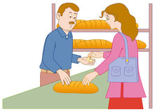 Shopping in the bakery Stock Photography