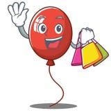 Shopping balloon character cartoon style. Vector illustration Stock Image
