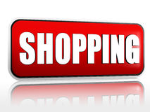 Shopping banner Royalty Free Stock Images