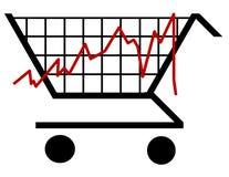 Shopping bar graph Stock Photos