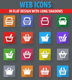 Shopping Bascket icons set Stock Images