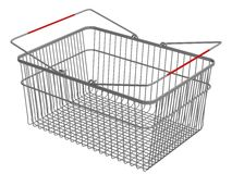 Shopping basket royalty free illustration